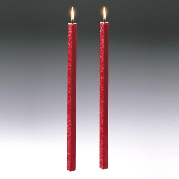 Amabiente Kerze CLASSIC feuerrot 40cm - 2er Set