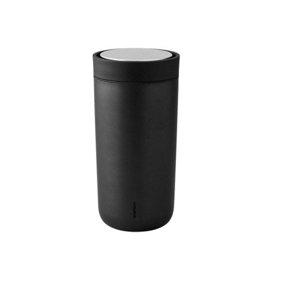 Stelton Trinkbecher To Go Click 0.2 l, metallic schwarz