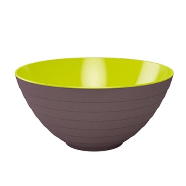 Zak designs Schüssel WAVE 25 cm stein-kiwi
