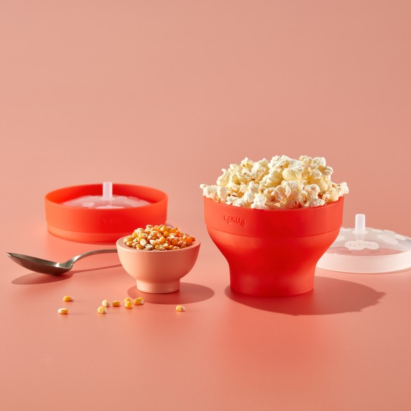 Lekue Mikrowellen Popcorn Maker MINI, 2er-Set