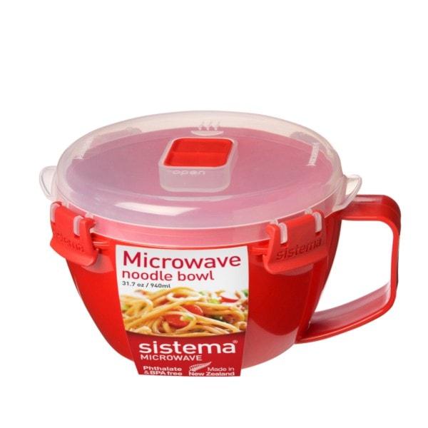 sistema Mikrowellen Schüssel mit Henkel, rot