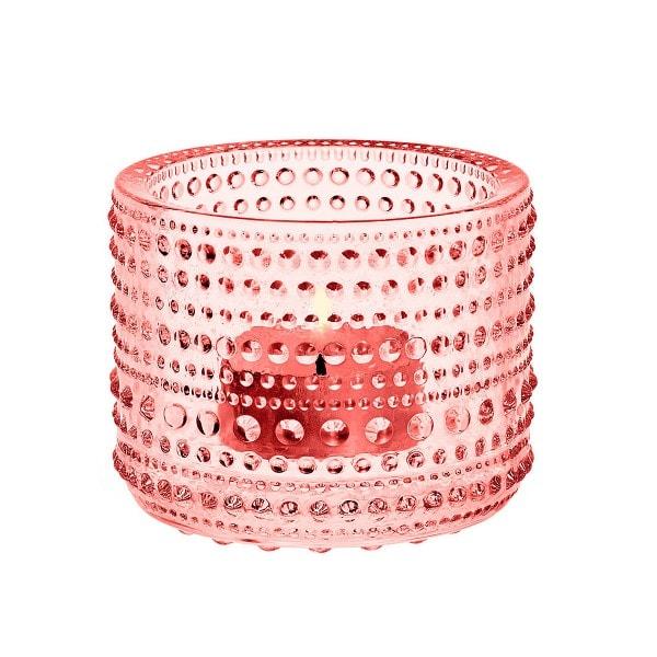 Iittala Teelichthalter KASTEHELMI Lachs 6.4 cm