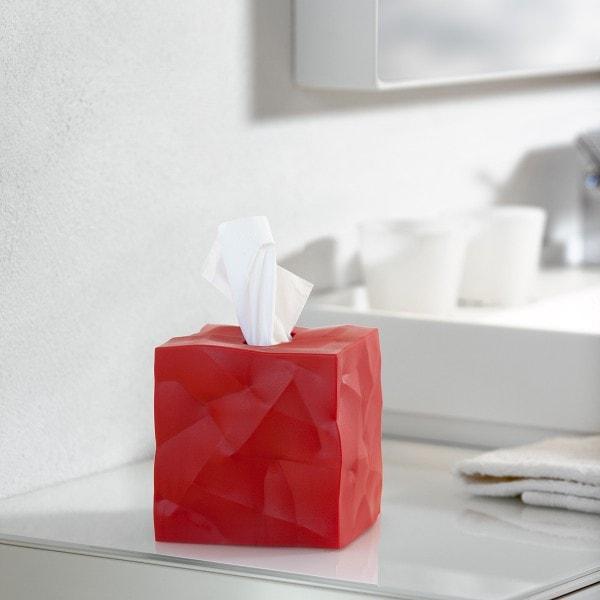 Essey Papiertücher-Box WIPY CUBE rot