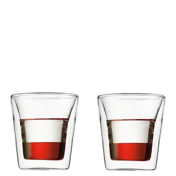Bodum CANTEEN Glas doppelwandig 0.1 l - 2er Set