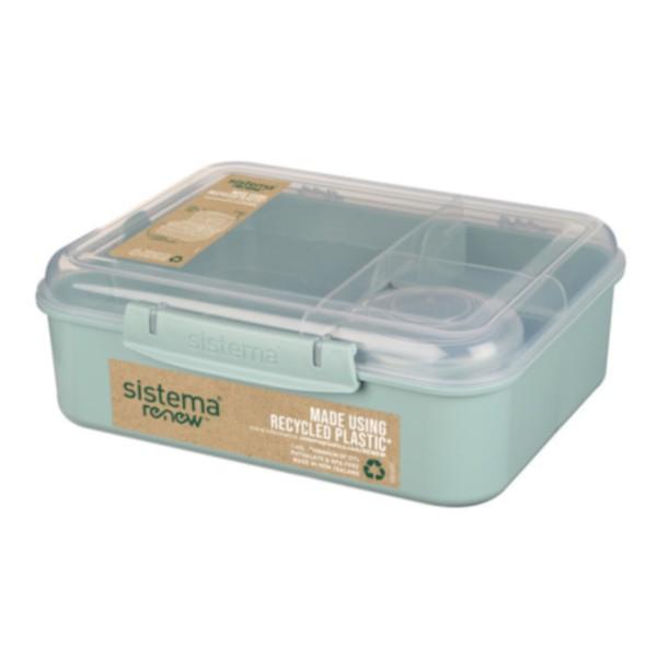 Bento Lunchbox To Go, unterteilt, RENEW - Farbwahl