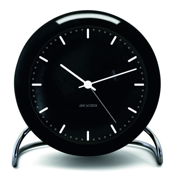 Rosendahl Tischuhr AJ Clock City Hall mit Alarm schwarz
