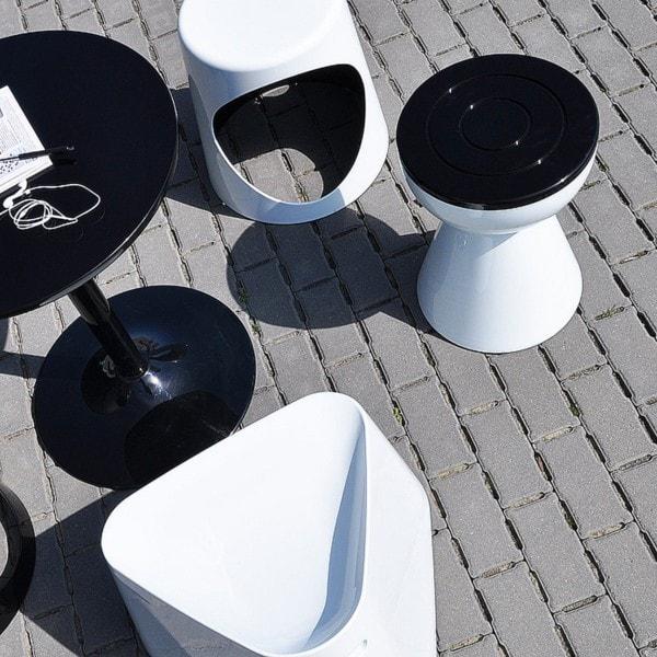 XLBOOM Beistelltisch Boto, weiß/schwarz