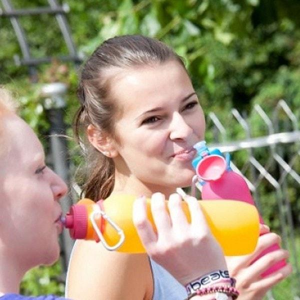 zielonka unzerbrechliche Trinkflasche Viv 1 l , orange