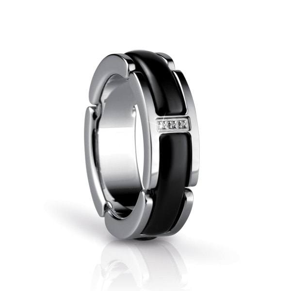 Bering Time Ring silber-schwarz 50mm