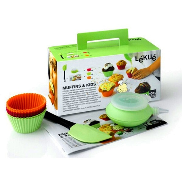 Lekue Kinder-Backset MUFFINS KIDS - 9-teilig
