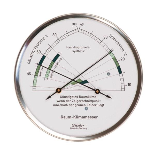 Fischer Wohnklima Hygrometer mit Thermometer