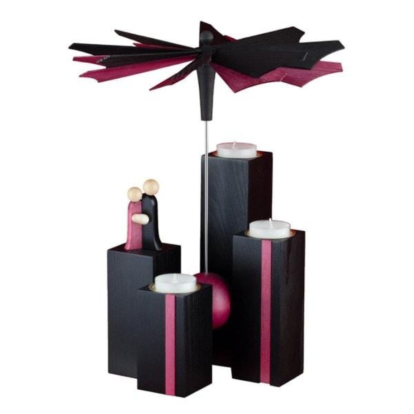 Stehlen Pyramide, schwarz-purpur