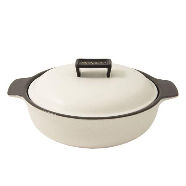 WALD Keramik-Kochtopf groß flach, weiß