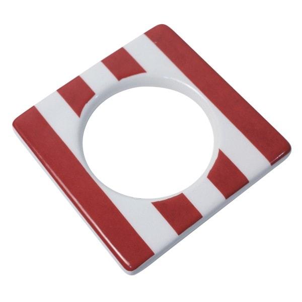 Cult Design Manschette für Teelichthalter rot-weiß-gestreift