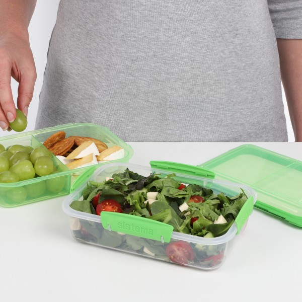 sistema Lunchbox Stack 1.8l , transparent-grün