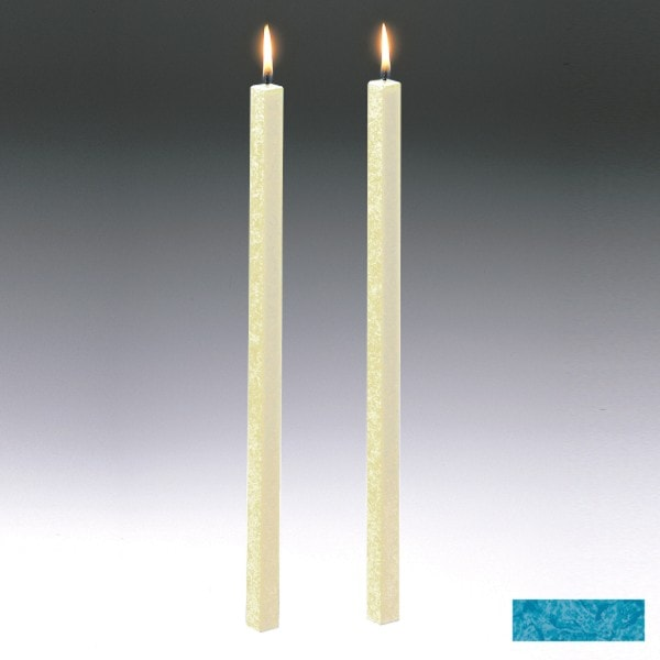 Amabiente Kerze CLASSIC Türkis 40cm - 2er Set