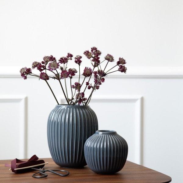 Kähler Vase Hammershøi 20 cm, indigo