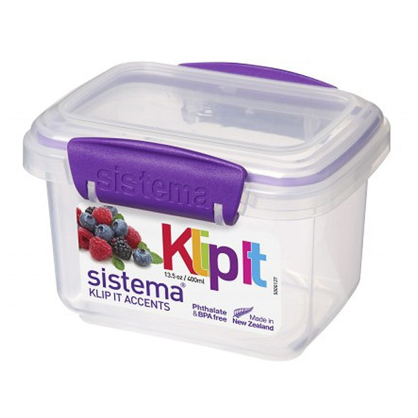sistema Frischhaltedose Klip it accents, 0.4 l lila