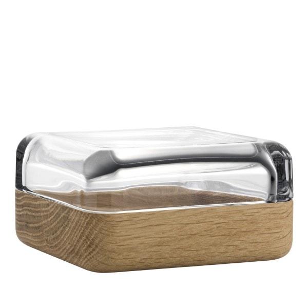 Iittala VITRIINI Glasbox 10.8 cm klar/Eiche