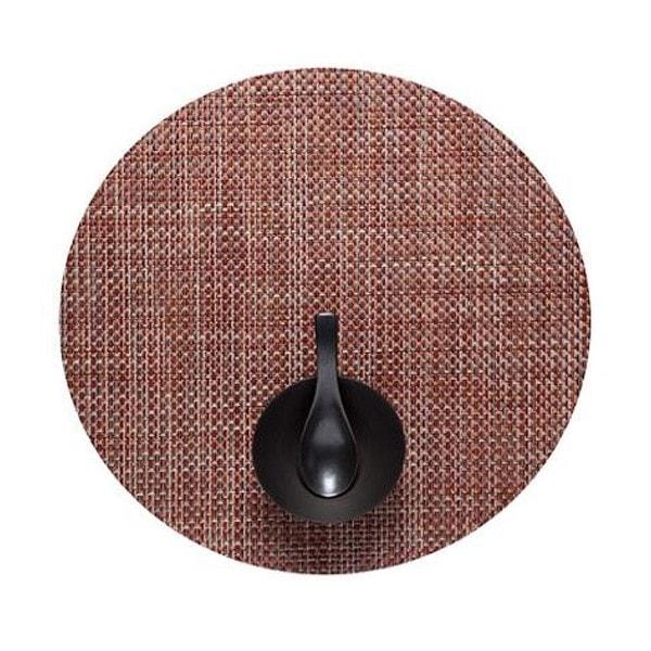 Chilewich Tischset BASKETWEAVE Round Terra - 2er Set