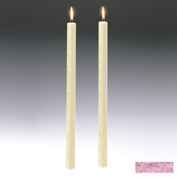 Amabiente Kerze CLASSIC Malve 40cm - 2er Set
