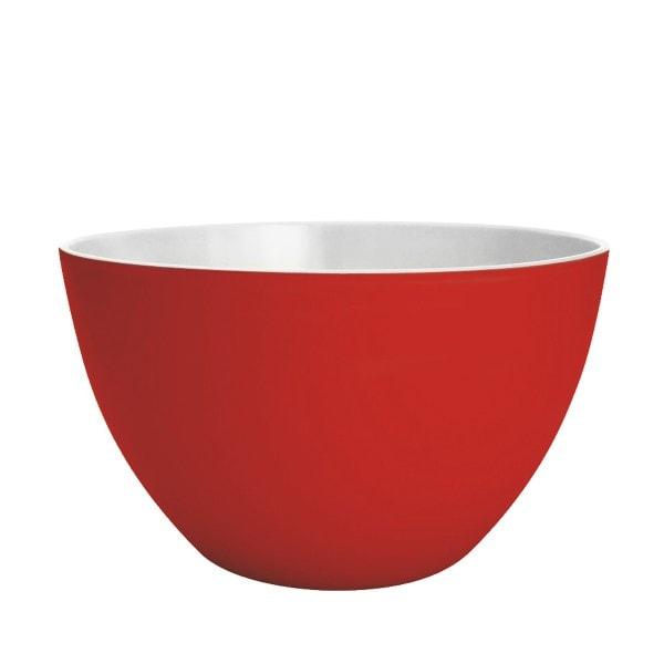 Zak designs Schüssel DUO 22cm rot-weiß