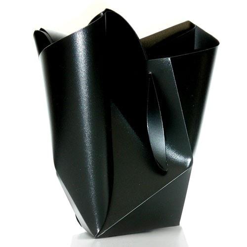 Faltvase Blumenvase FALTER schwarz