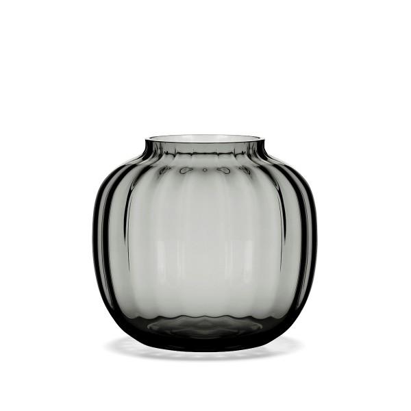 Holmegaard Ovale Vase PRIMULA 12.5 cm, smoke