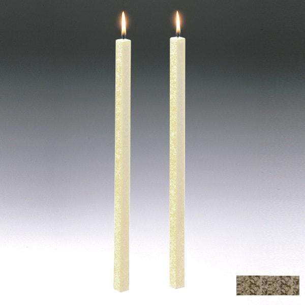Amabiente Kerze CLASSIC fango 40cm - 2er Set