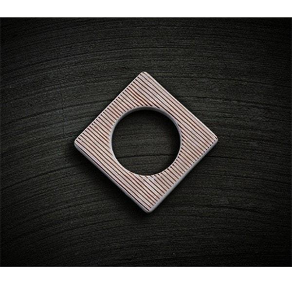 Cult Design Manschette für Teelichthalter kupfer-weiß-gestreift