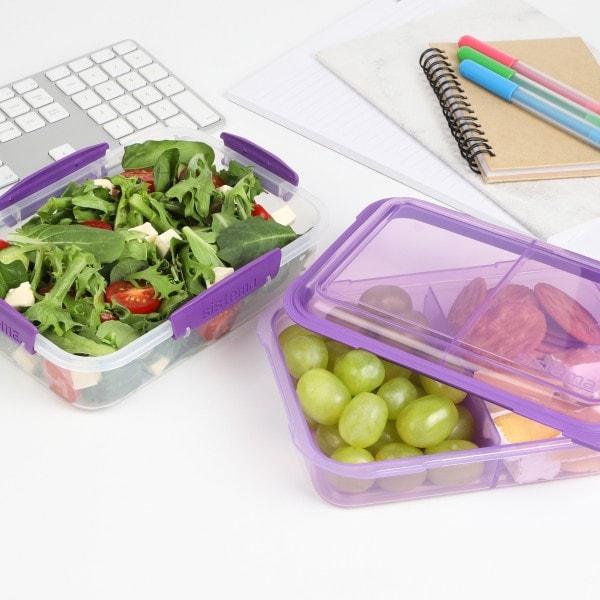 sistema Lunchbox Stack 1.8l , transparent-lila