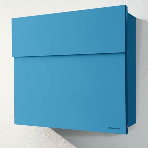 Briefkasten Lettermann radius briefkasten letterman blau briefkasten outdoor