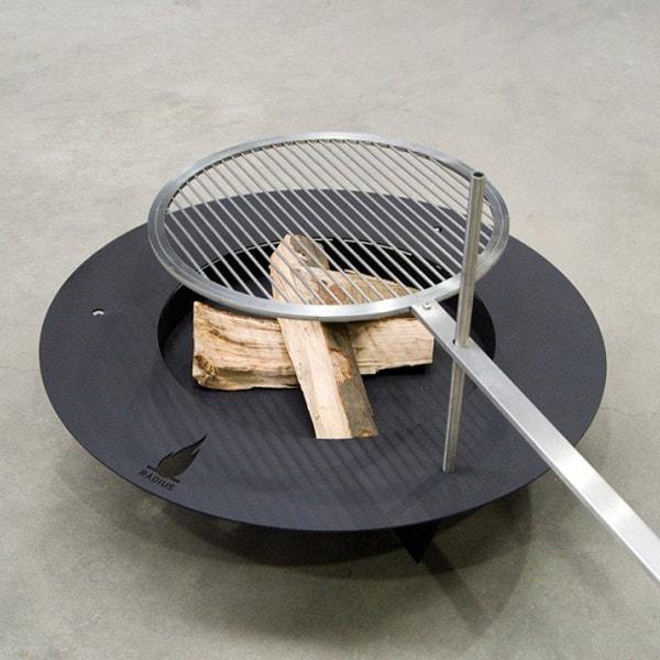 RADIUS Feuerstelle - Grill FIREPLATE schwarz 100cm