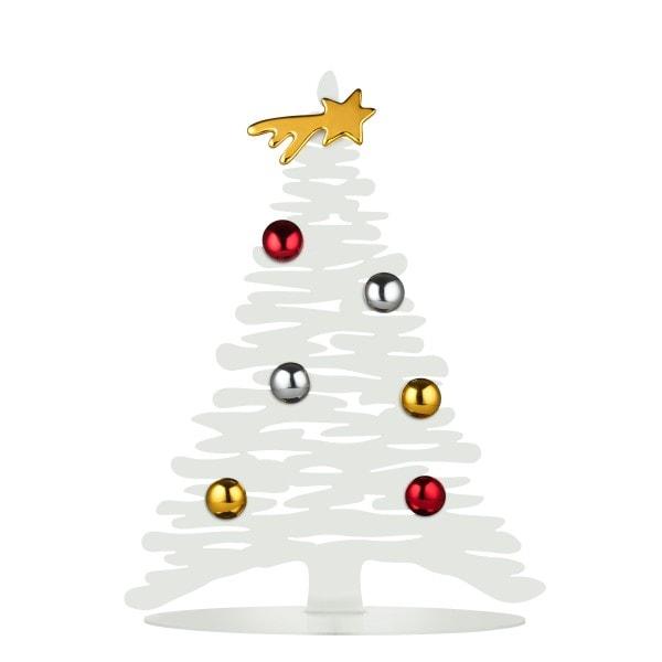 Alessi Weihnachtsbaum Stahl, weiß 30 cm