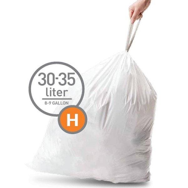 simplehuman 20 Abfallbeutel Müllbeutel H 30 l