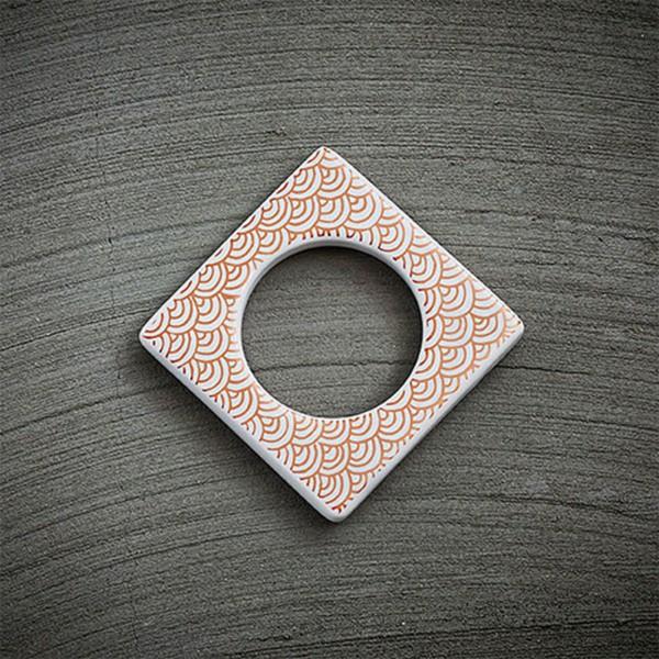 Cult Design Manschette für Teelichthalter kupfer weiß
