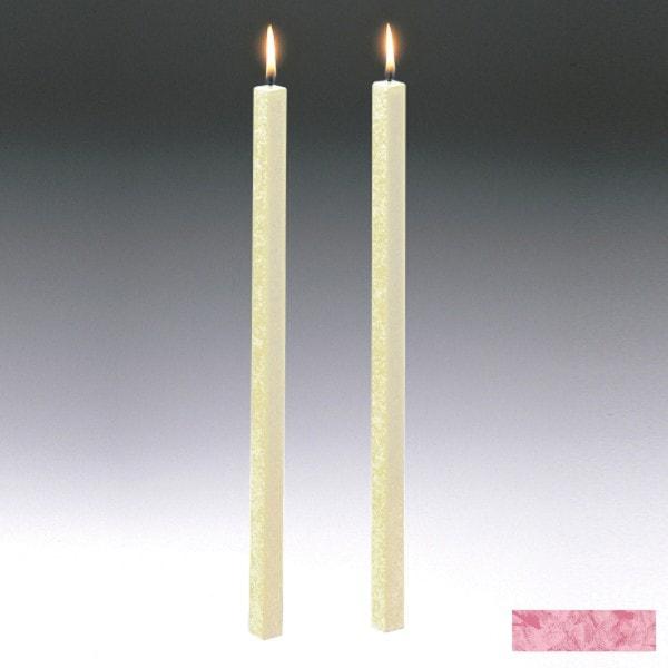 Amabiente Kerze CLASSIC Rose 40cm - 2er Set