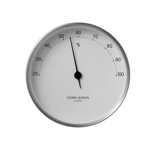 Georg Jensen Hygrometer HENNING KOPPEL 10cm stahl-weiß