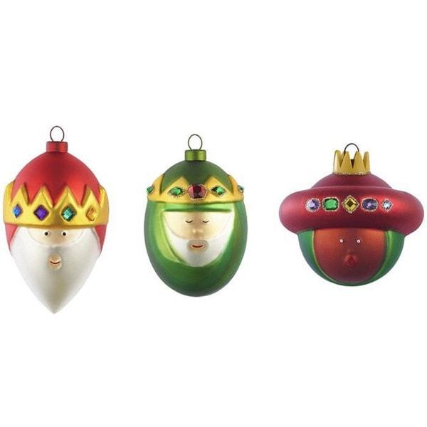 ALESSI Weihnachtsbaumkugel 3er Set