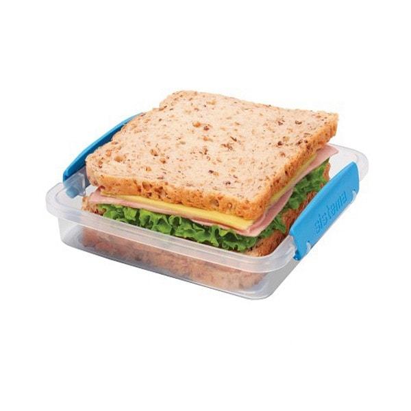 sistema kleine Brotdose, transparent-blau
