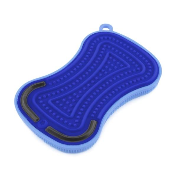 Kochblume Silikonschwamm SCRUBBY PLUS, blau
