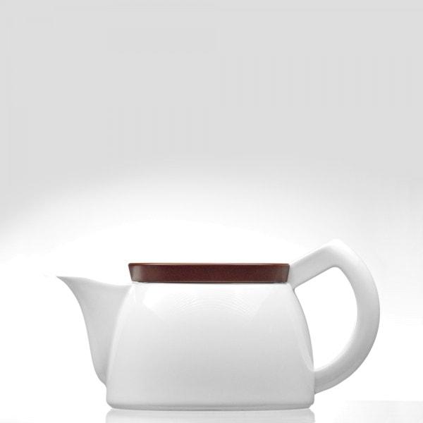 Sowden SoftBrew Teekanne JAKOB 0.5L weiß mit Holzdeckel