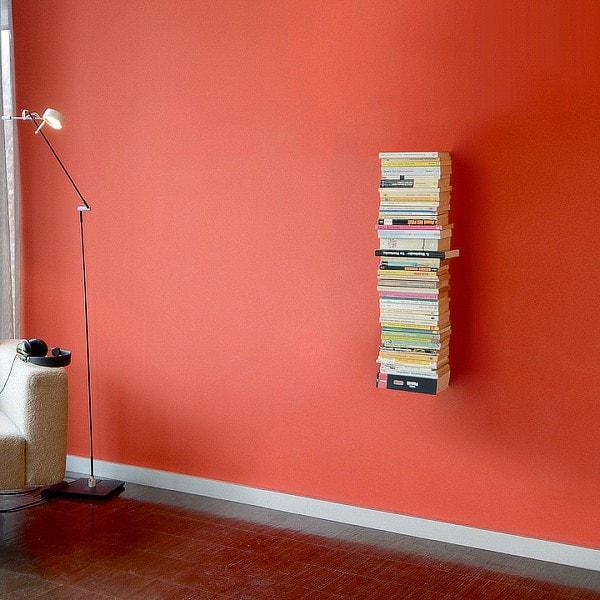 RADIUS Booksbaum 2, Bücherregal, Wand klein, schwarz