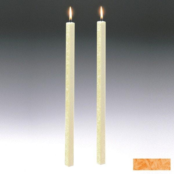 Amabiente Kerze CLASSIC Aprikose 40cm - 2er Set