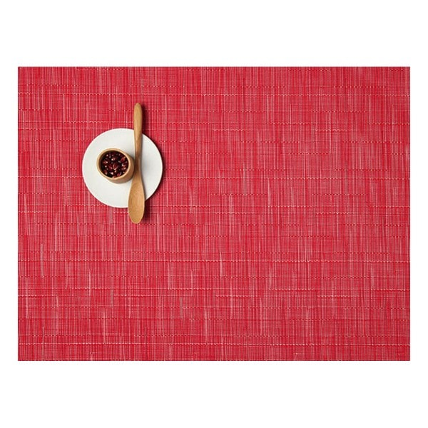 Chilewich Tischset BAMBOO POPPY - 2er Set