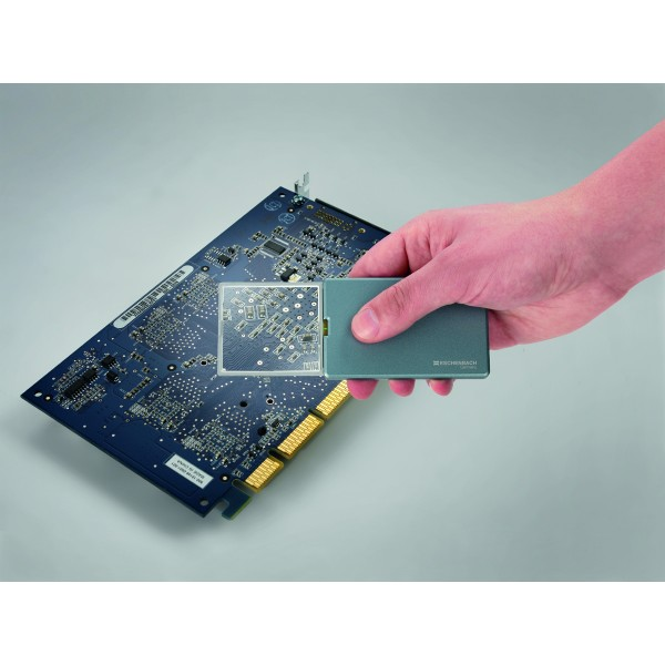 ESCHENBACH Taschenleuchtlupe easyPocket silberblau 4x