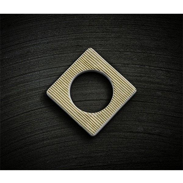 Cult Design Manschette für Teelichthalter gold-weiß-gestreift