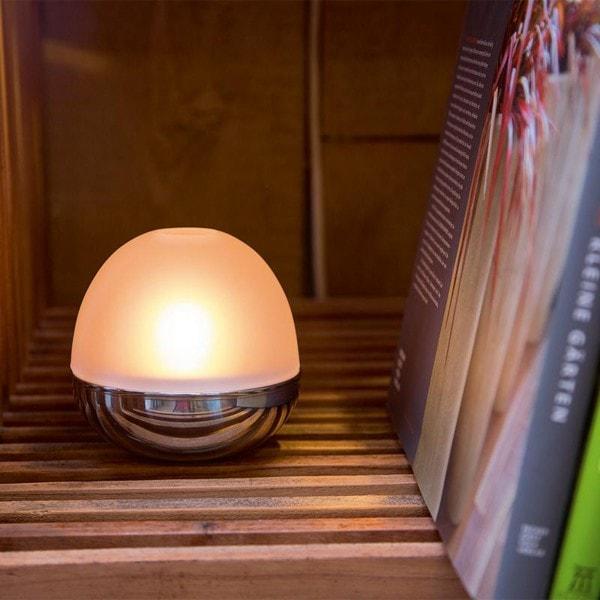 Philippi Windlicht LIGHTBALL Teelichthalter gefrostet