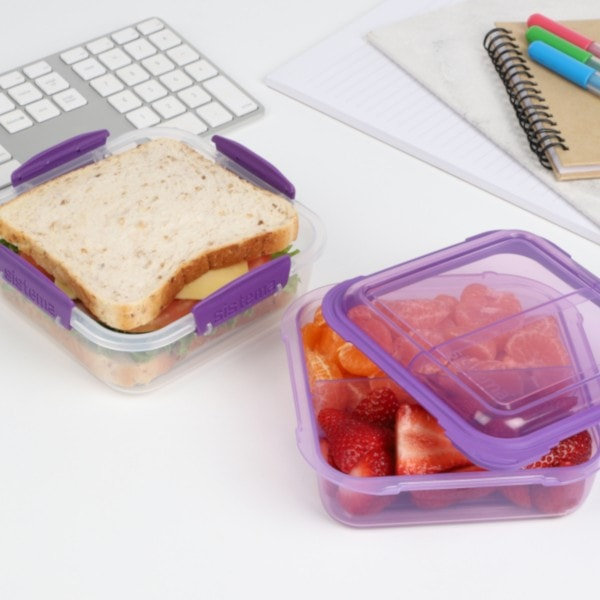 sistema Lunchbox Stack 1.24l , transparent-lila