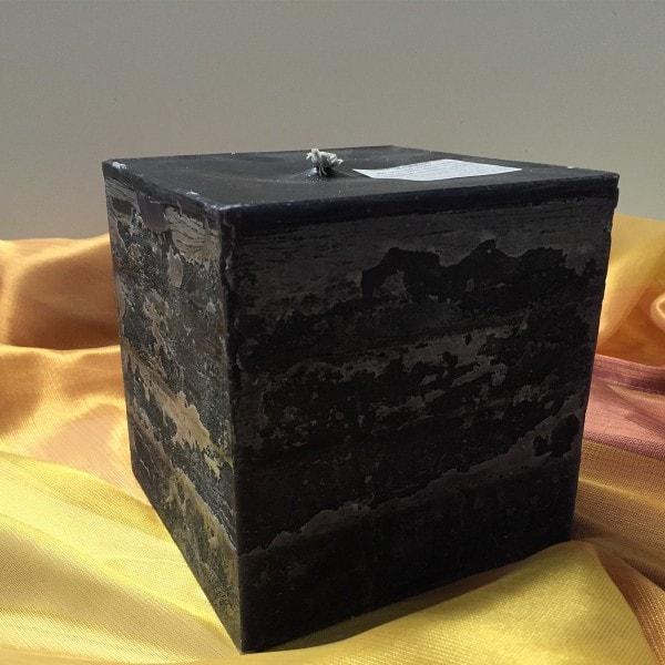 Moonlights Jumbo-Kerze 15x15x15cm schwarz 1 Docht